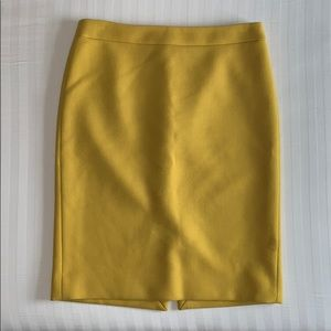 J.Crew wool pencil skirt in mustard